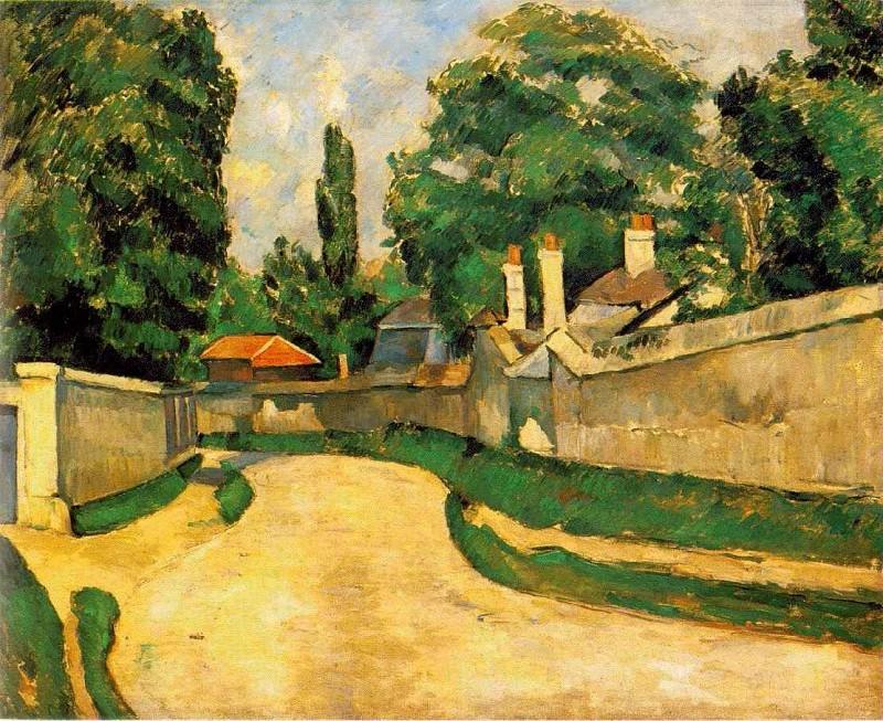 MAISONS AU BOUT DUNE ROUTE, 1881. Paul Cezanne