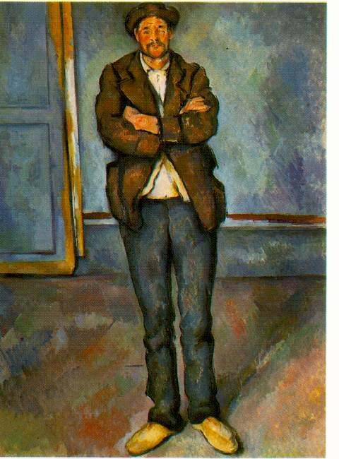 MAN IN A ROOM (NO DATE GIVEN) THE BARNES FOUNDAT. Paul Cezanne
