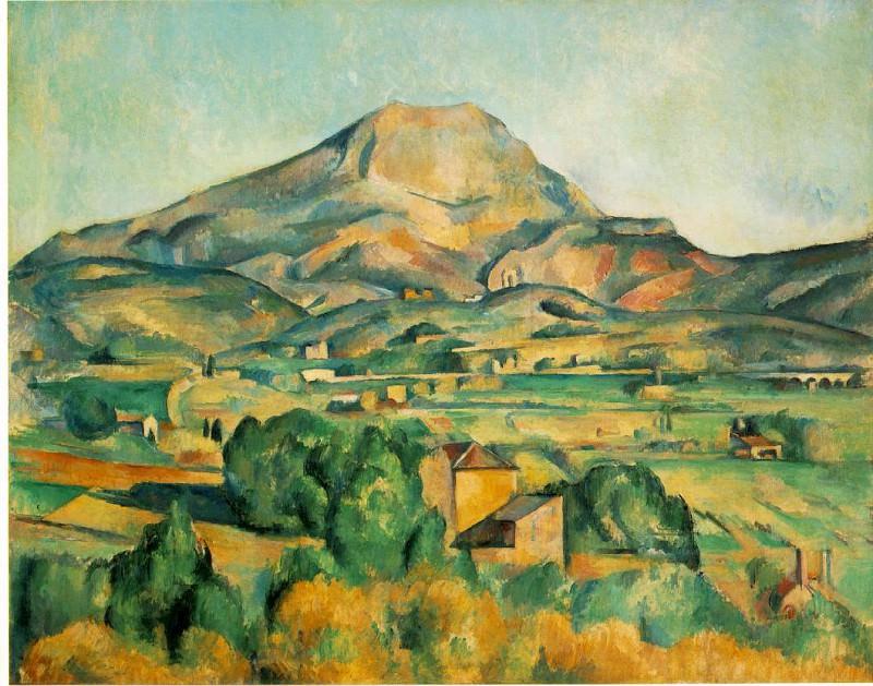 Mont Sainte-Victoire (Barnes). Paul Cezanne