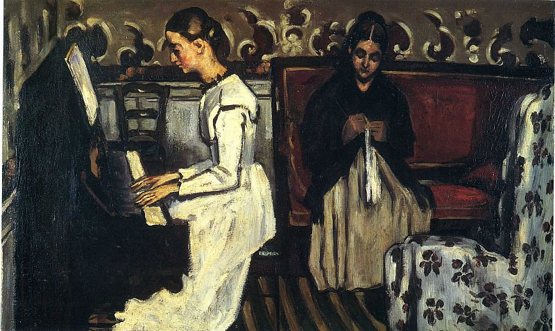 Девушка за пианино (увертюра к -Тангейзеру-). Поль Сезанн