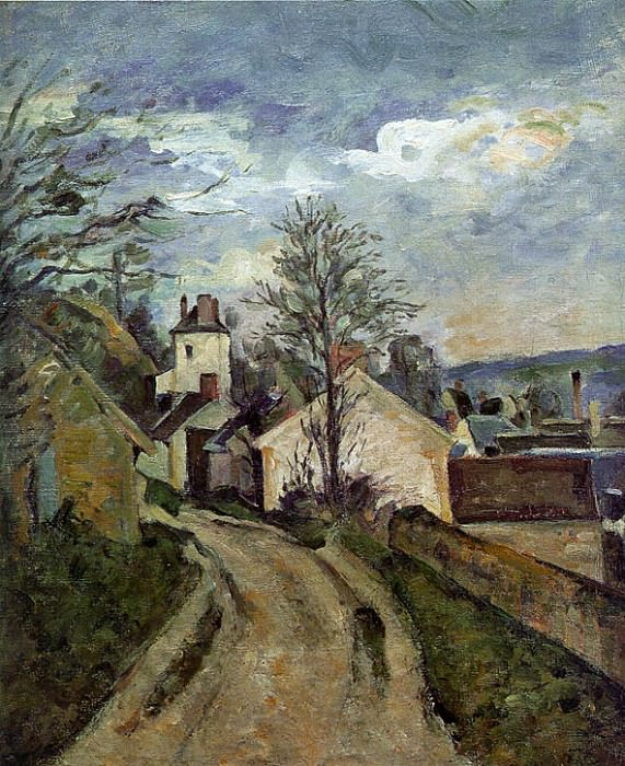 The House of Dr Gachet in Auvers. Paul Cezanne