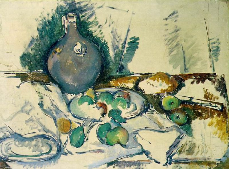 STILL LIFE WITH WATER JUG,1892-93, TATE GALLERY,LOND. Paul Cezanne