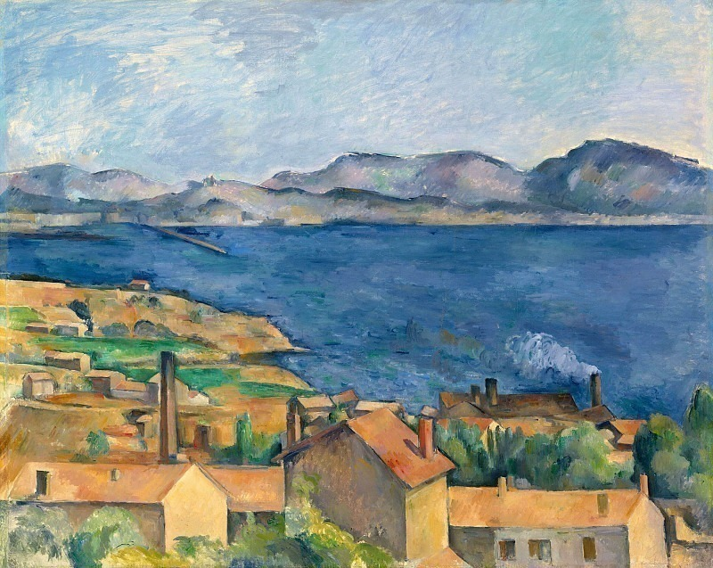 THE BAY FROM LESTAQUE,C.1886, ART INST.OF CHICAGO. Paul Cezanne