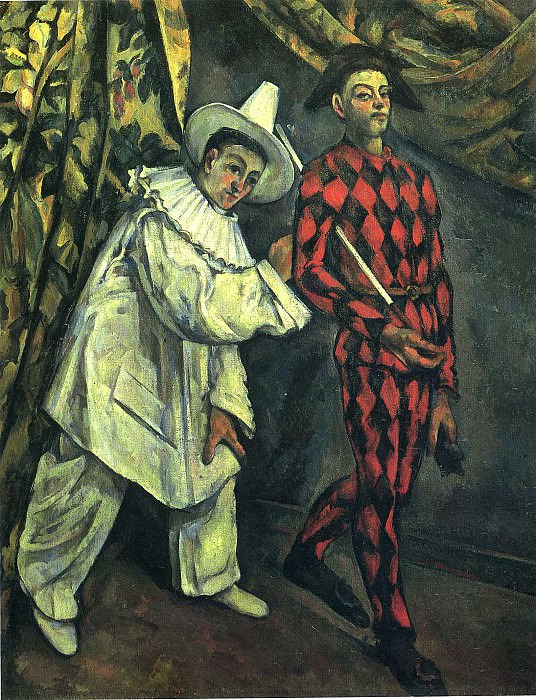 Pierrot and Harlequin. Paul Cezanne