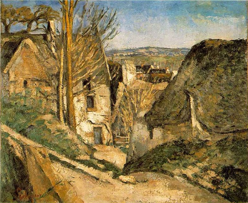 HOUSE OF THE HANGED MAN,1873, Musee dOrsay,Paris. Paul Cezanne