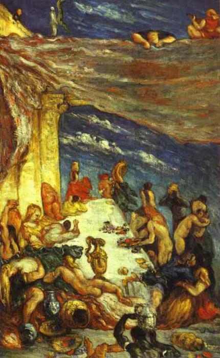 The Banquet. Paul Cezanne