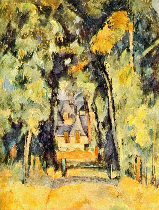 Road at Chantilly. Paul Cezanne