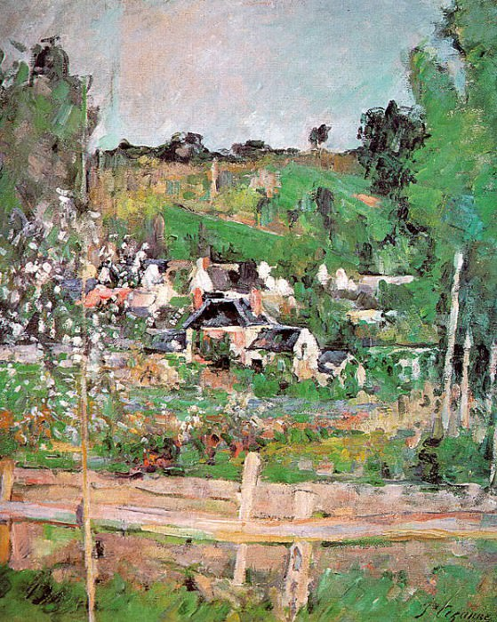 View of Auvers-sur-Oise. Paul Cezanne