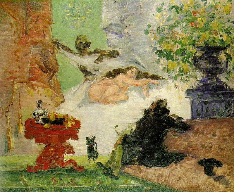 A MODERN OLYMPIA,1873-74, MUSeE DORSAY PARIS. Paul Cezanne
