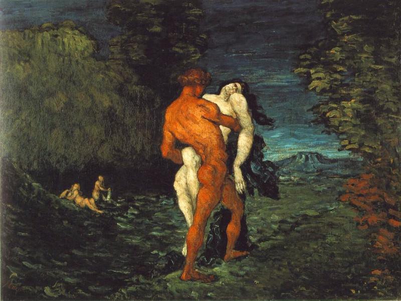 THE ABDUCTION,1867, FITZWILLIAM MUSEUM CAMBRIDGE. Paul Cezanne