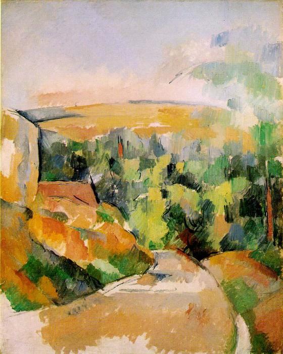 BEND IN ROAD,1900-06, PRIVATE.VENTURI 790. Paul Cezanne