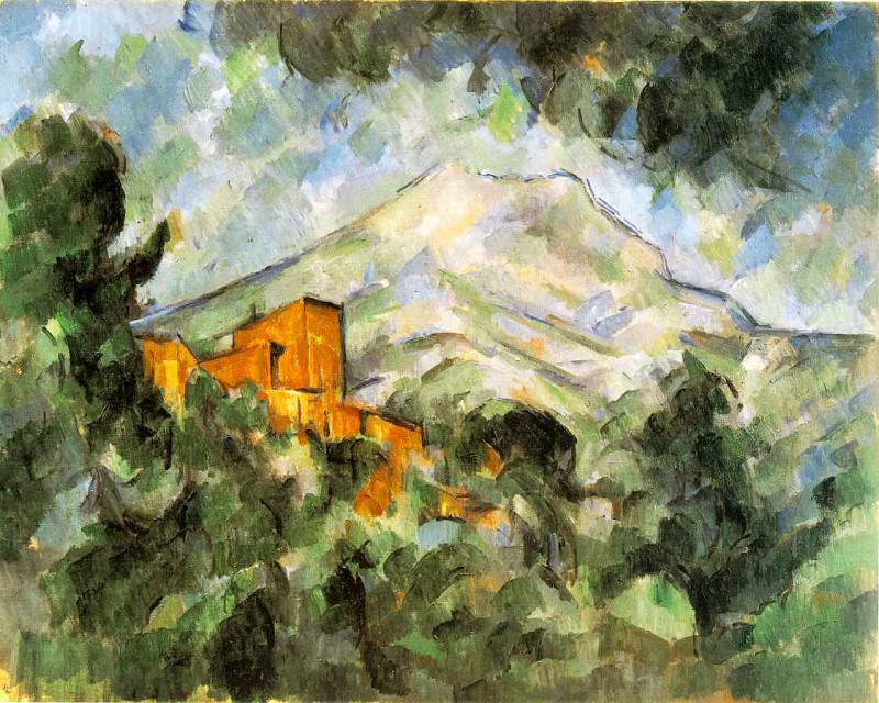 Mont Sainte-Victoire and Chateau Noir. Paul Cezanne