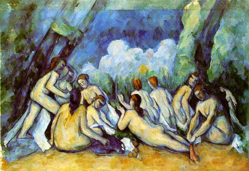 Bathers (london). Paul Cezanne