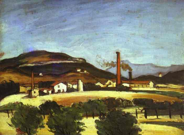 Factories near the Mount of Cengle. Paul Cezanne