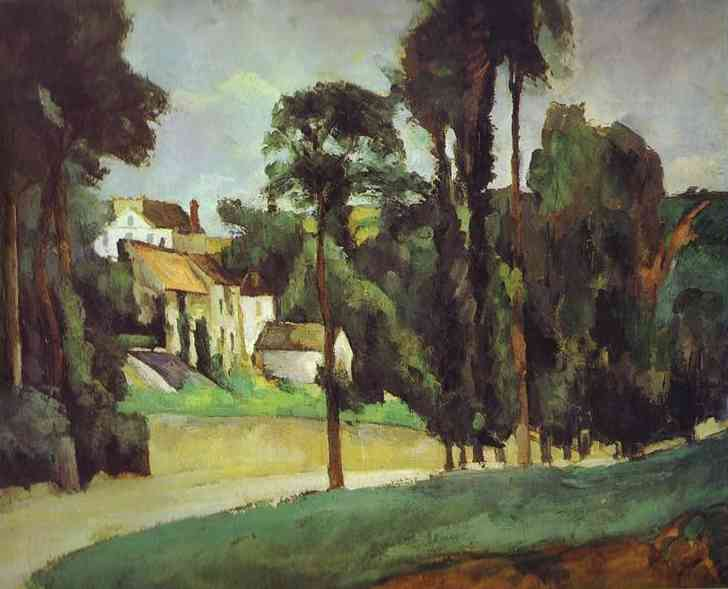 Road at Pontoise. Paul Cezanne