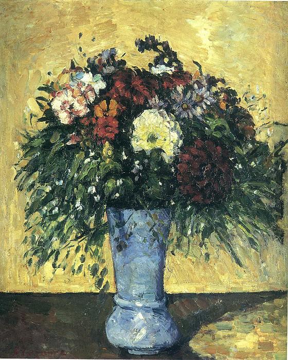 Букет цветов в вазе. Поль Сезанн