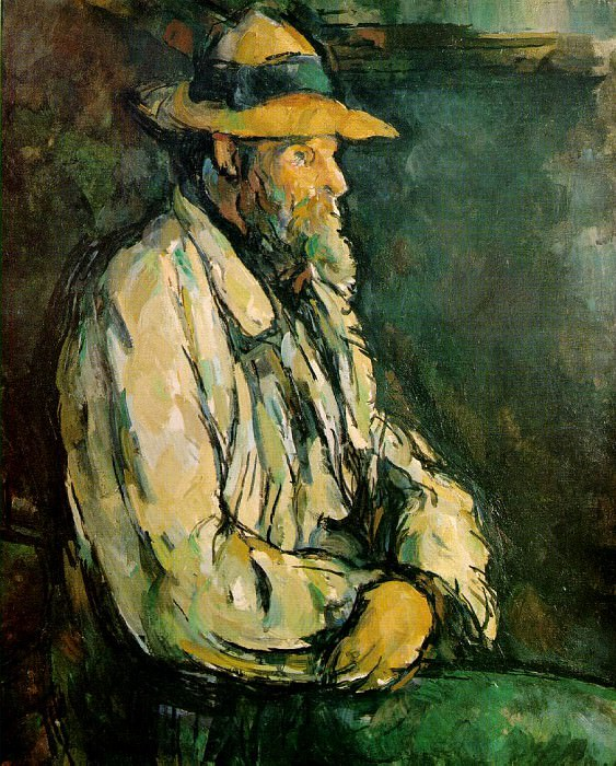 PORTRAIT OF VALLIER,1906, PRIVATE COLLECTION VENTUR. Paul Cezanne