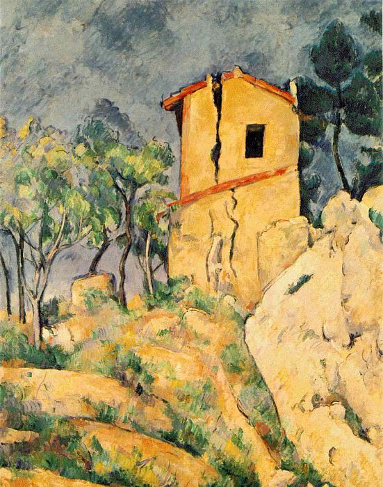 THE HOUSE WITH CRACKED WALLS,1892-94, COLL.IRA HAUPT. Paul Cezanne
