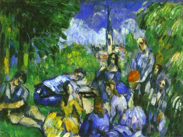 A Lunch on Grass. Paul Cezanne