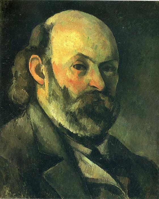 Автопортрет, начало 1880 г.г.. Поль Сезанн