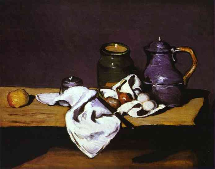 Still Life with Kettle. Paul Cezanne