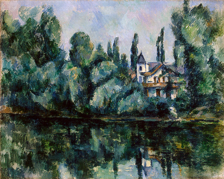 The Banks of the Marne (Villa on the Bank of a River. Paul Cezanne