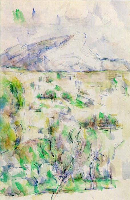 Mont Sainte-Victoire Seen from Les Lauves (watercolor). Paul Cezanne