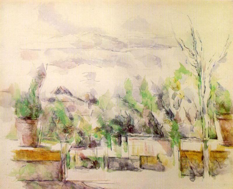 The Garden Terrace at Les Lauves. Paul Cezanne