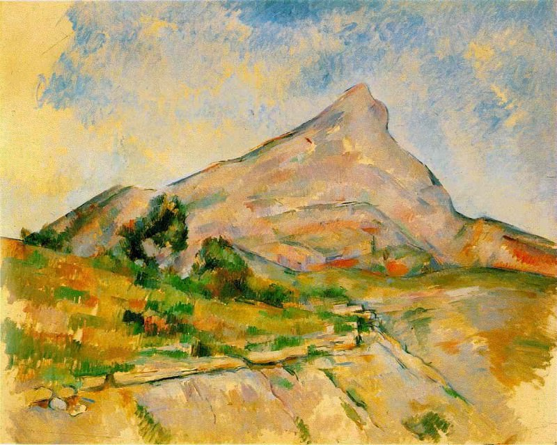 LE MONT SAINTE-VICTOIRE 1897-98 THE HERMITAGE. Paul Cezanne