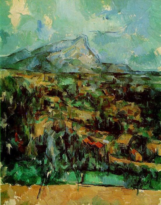 Mont Sainte-Victoire (NewYork). Paul Cezanne