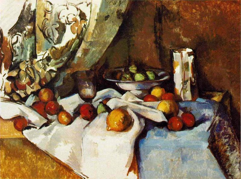 STILL LIFE WITH APPLES,1895-98, MOMA NY,VENTURI 736. Paul Cezanne