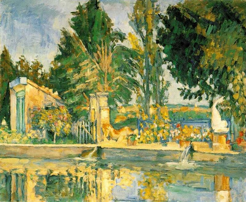 JAS DE BUFFAN, THE POOL 1876 THE HERMITAGE. Paul Cezanne