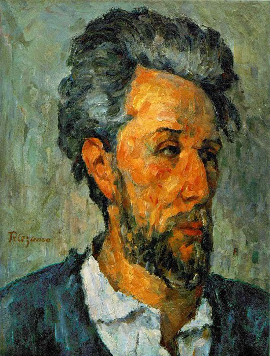 PORTRAIT OF VICTOR CHOQUET,1875, COLL.OF LORD VICTOR. Paul Cezanne