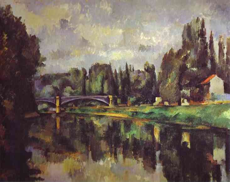 The Banks of the Marne (Puskin). Paul Cezanne