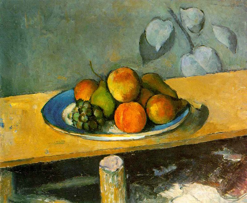 APPLES, PEACHES, PEARS, AND GRAPES,1879-80, EREMITAG. Paul Cezanne