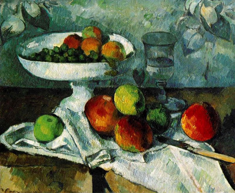 STILL LIFE WITH COMPOTIER,1879-80, COLLECTION MR. AN. Paul Cezanne