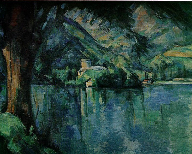 LE LAC DANNECY,1896, COURTAULD INSTITUTE GALLERIES,. Paul Cezanne