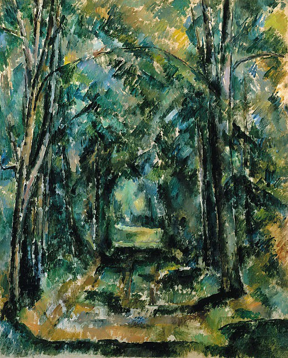 Path in Chantilly. Paul Cezanne