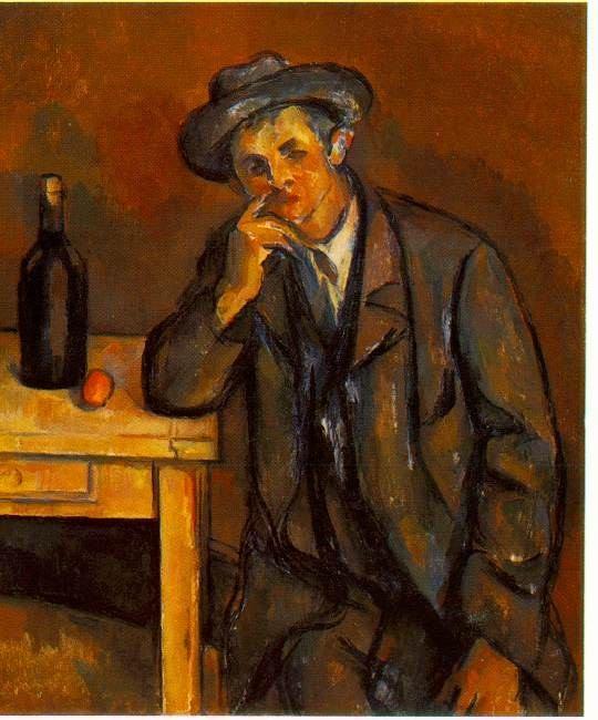 THE DRINKER. Paul Cezanne