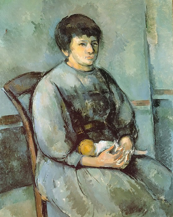 Girl with Doll. Paul Cezanne
