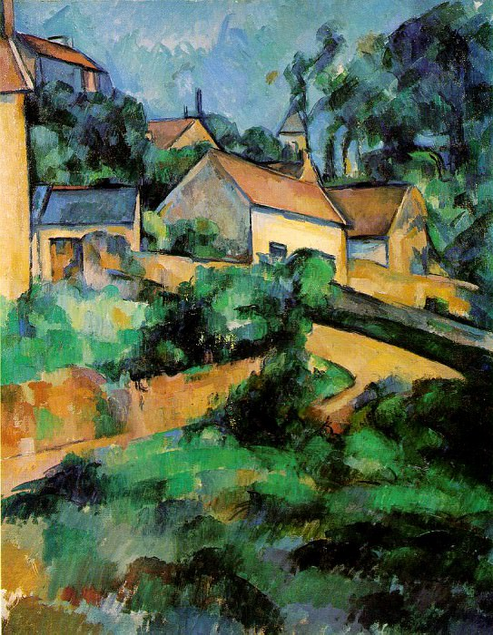 TURNING ROAD AT MONTGEROULT,1899, COLL.WHITNEY,NY. Paul Cezanne