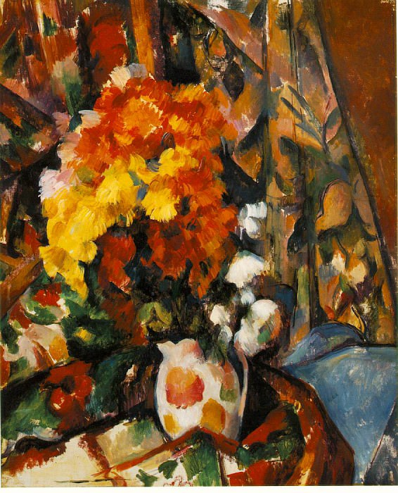 CHRYSANTHEMUMS (VASE FLEURI),C.1900, BARNES FOUNDATI. Paul Cezanne