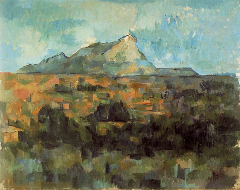 Mont Sainte-Victoire Seen from Les Lauves (Switzerland). Paul Cezanne