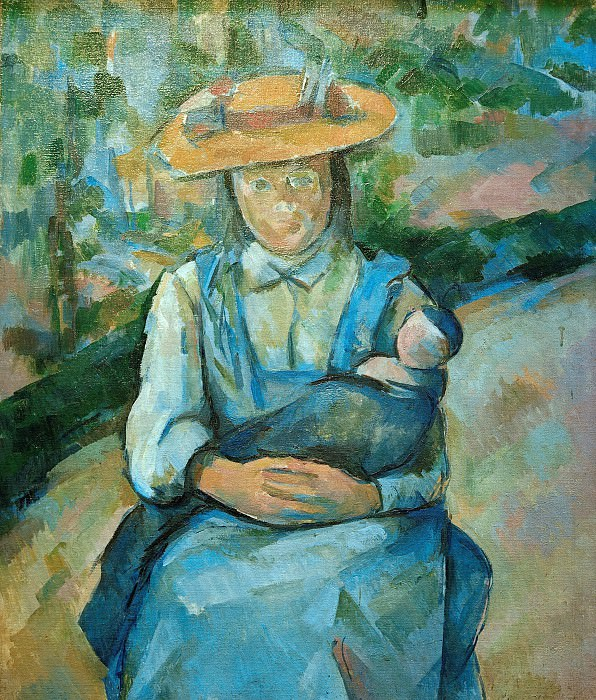 Young girl with doll. Paul Cezanne