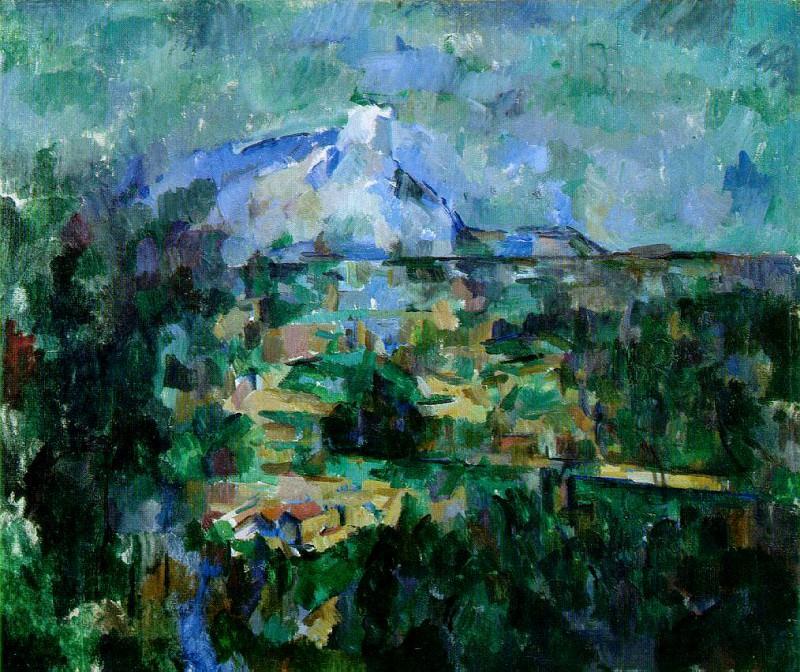 Mont Sainte-Victoire Seen from Les Lauves (Basel). Paul Cezanne