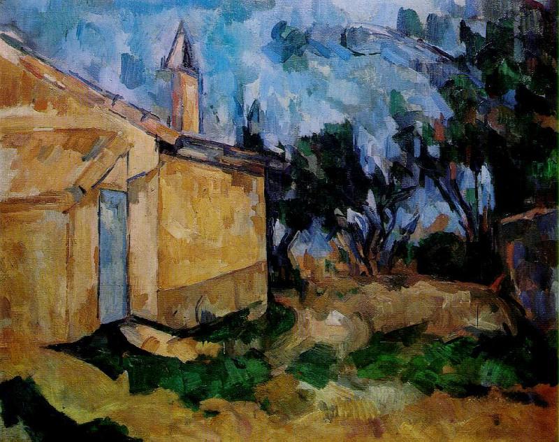 LE CABANON DE JOURDAN,1906, COLL.RICCARDO JUCKER,MIL. Paul Cezanne