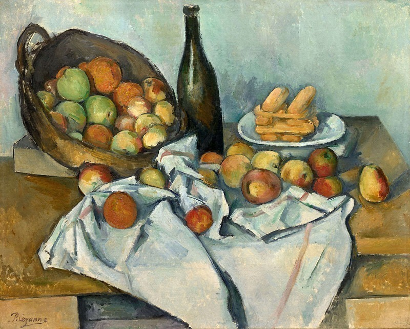 STILL LIFE WITH BASKET OF APPLES,1890-94, THE ART IN. Paul Cezanne