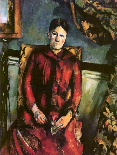 MADAME CEZANNE I DEN GULA FATOLJEN,1890-94, MOMA. Paul Cezanne