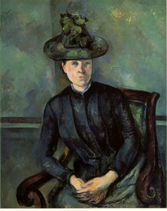 Woman in a Green Hat (Madame Cezanne). Paul Cezanne