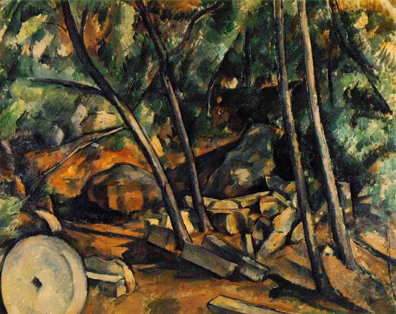 WOODS WITH MILLSTONE,1898-1900, COLL.MRS CARROLL S.T. Paul Cezanne